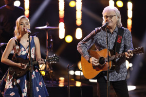 "THE VOICE -- ""Live Finale"" Episode 918B -- Pictured: (l-r) Emily Ann Roberts, Ricky Skaggs -- (Photo by: Tyler Golden/NBC)"