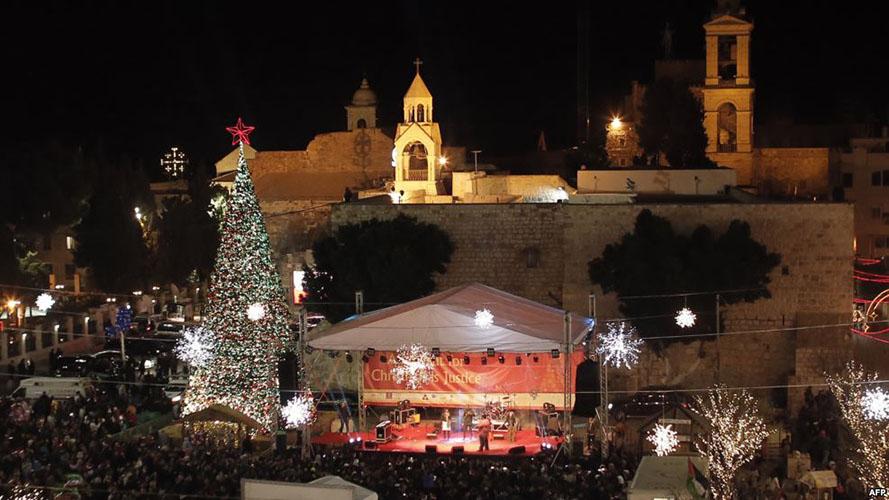 Kỉ Niệm Chúa Giáng Sinh, Cơ Đốc Nhân Kéo Đoàn Tới Bethlehem